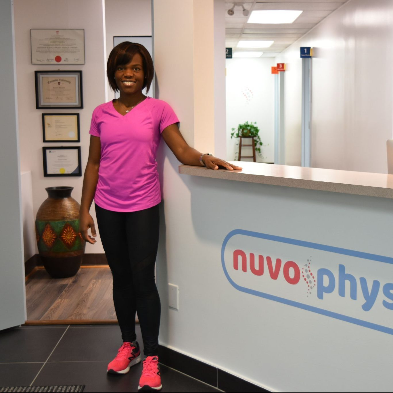 jennifer nwankwo at nuvo physio physiotherapy clinic